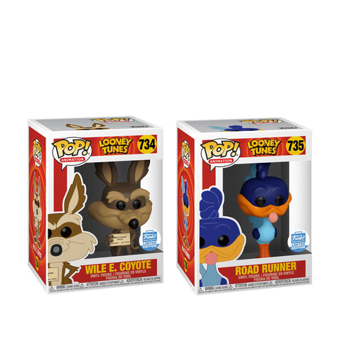 Funko POP Animation Looney Tunes Wile E. Coyote 734 and Road Runner 735 Funko Shop Exclusive Set (Buy. Sell. Trade.)
