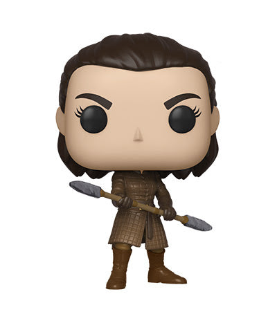 Funko POP! TV Game of Thrones- Arya w. Two Headed Spear (Coming October)