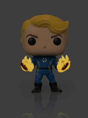 Funko POP! Marvel: Fantastic Four- Human Torch Suited Specialty Series Exclusive