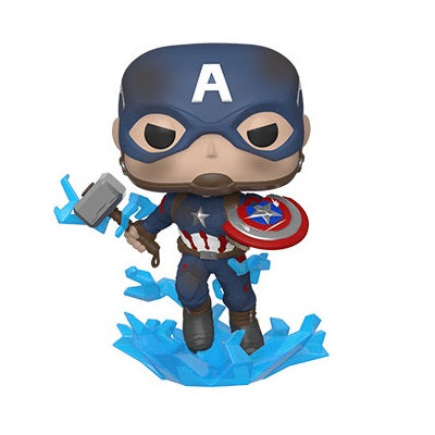 Funko POP! Marvel: Avengers Endgame Captain America Broken Shield Mjolnir
