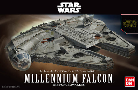 Bandai Hobby Star Wars Millennium Falcon The Force Awakening 1/144 Scale Model Kit