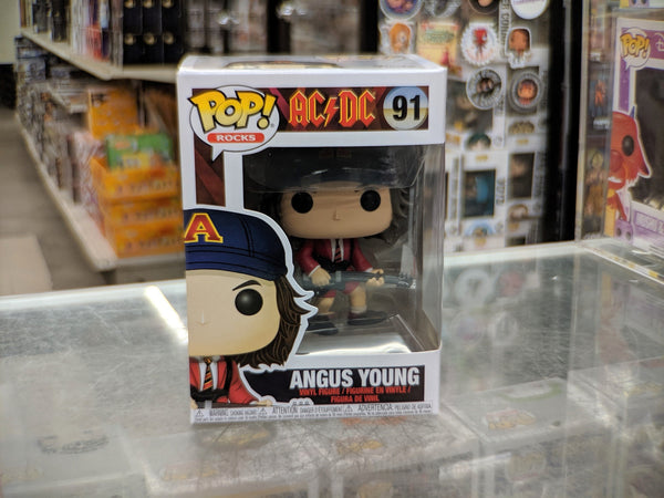 Funko Pop! Rocks ACDC Angus Young Red Jacket No Sticker (Buy. Sell. Trade.)