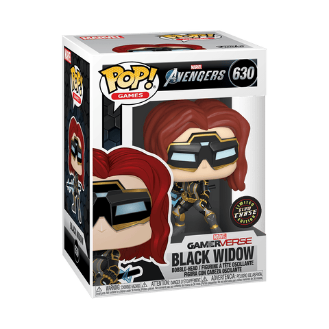 Funko Pop! Marvel: Avengers Game - Black Widow Chase (Glow In The Dark)