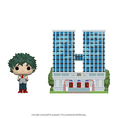 Funko Pop! Town: MHA - U.A. High School w/ Deku in Uniform (Coming Soon) New York Toy Fair Reveals