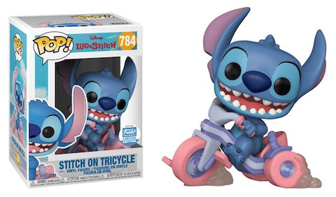 Funko POP Disney Lilo & Stitch Stitch on Tricycle 784 Funko Shop Exclusive (Buy. Sell. Trade.)