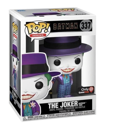 Funko Pop! Heroes Batman 1989 The Joker metallic GameStop Exclusive (Buy. Sell. Trade.)
