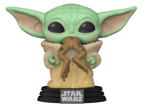 Funko POP! Star Wars: Mandalorian- The Child Baby Yoda with Frog