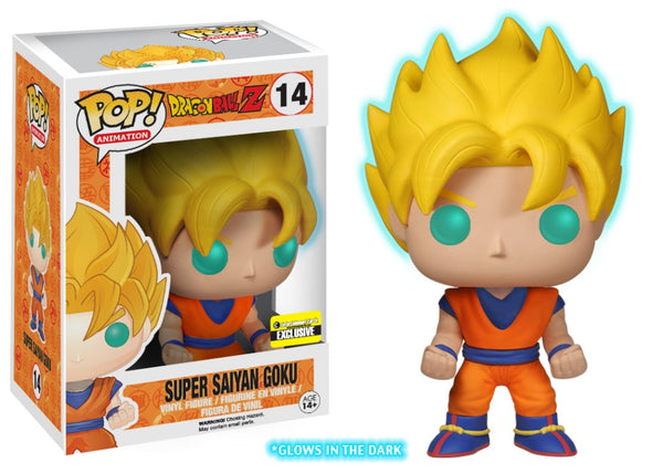 Funko Pop! Animation: Dragon Ball Z Super Saiyan Goku 14 Glow in the Dark Entertainment Earth Exclusive (Buy. Sell. Trade.)