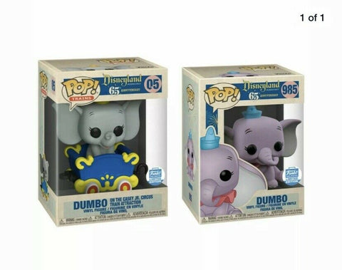 Funko POP Disney 65th Disneyland Resort Dumbo 985 and Dumbo on The Casey Jr. Circus 05  Funko Shop Exclusive Set (Buy. Sell. Trade.)