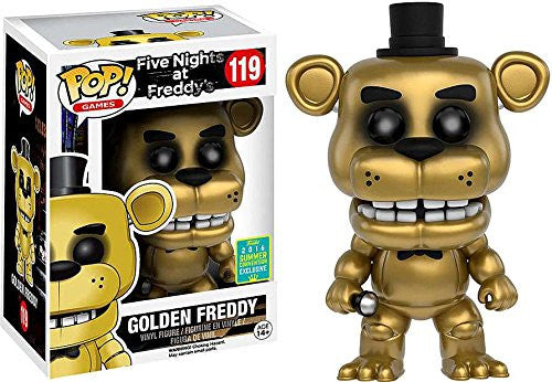 Pop! Games Vinyl Five Nights at Freddy's Golden Freddy SDCC 2016 Exclusive