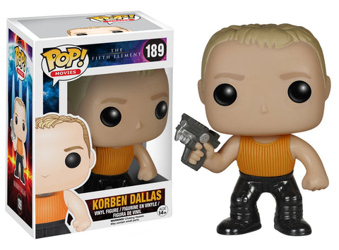 Funko Pop! Movies Vinyl The Fifth Element Korben Dallas (Vaulted)