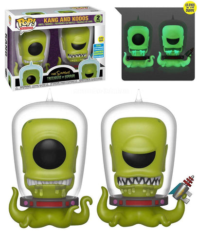Funko POP! Simpsons Treehouse of Horror: Kang & Kodos Exclusive 2pack Shared Sticker Summer Convention(Buy.Sell.Trade)