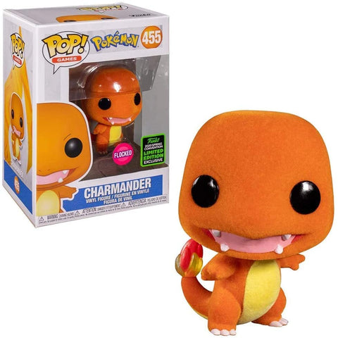 Funko Pop! Games Pokemon Charmander 455 Flocked (ECCC 2020) (Shared Sticker) (Buy. Sell. Trade.)