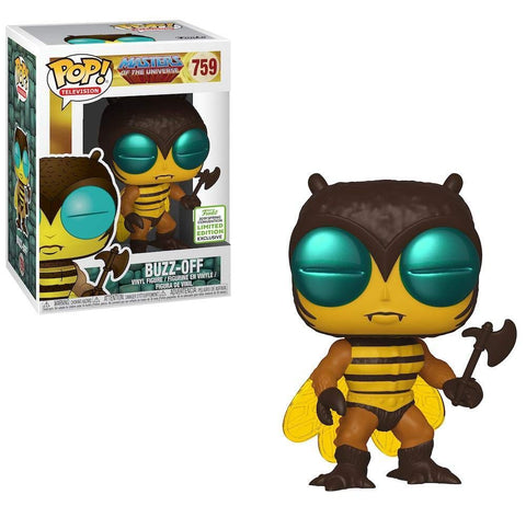 Funko Pop! Television: Masters Of The Universe - Buzz-Off 759 ECCC Exclusive (Shared Sticker) (Buy. Sell. Trade.)