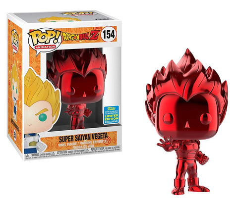 Funko Pop! Animation: Dragon Ball Z - Super Saiyan Vegeta (Red Chrome) 154 SDCC Exclusive (Shared Sticker) (Buy. Sell. Trade.)