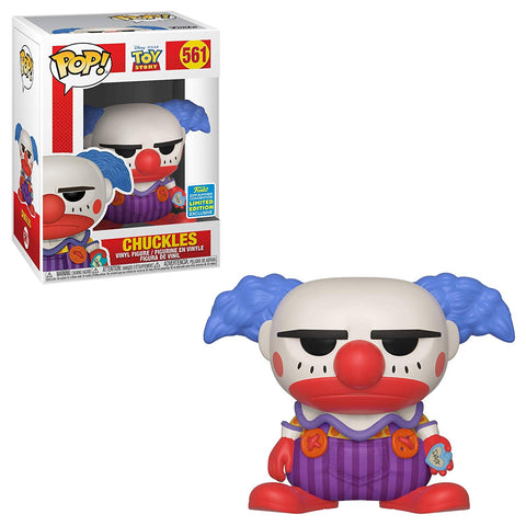 Funko Pop Disney: Toy Story - Chuckles The Clown 561 SDCC Exclusive Shared Sticker ( Buy. Sell. Trade)