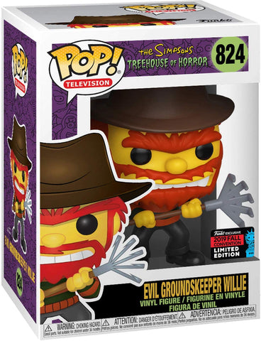 Funko Pop! Television The Simpsons Evil Groundskeeper Willie 824 (Fall Convention 2019 Exclusive) (Shared Sticker) (Buy. Sell. Trade.)