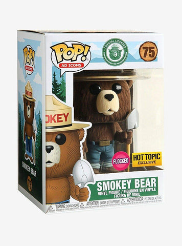 Funko POP Ad Icons - Smokey Bear (Flocked) 75 Hot topic Exclusive (Buy. Sell. Trade.)