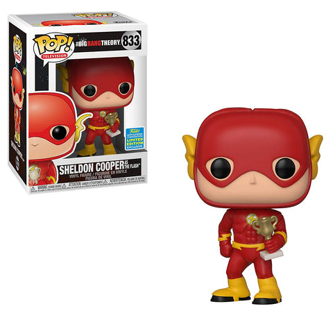 Funko Pop! Television: The Big Bang Theory - Sheldon Cooper as The Flash 833 SDCC 2019 Exclusive Shared Sticker(Buy. Sell. Trade.)