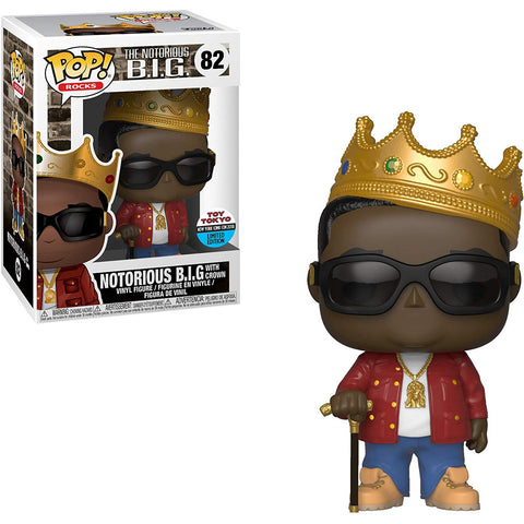 Funko Pop! Rocks: Notorious B.I.G with Crown 82 Toy Tokyo Exclusive (Buy. Sell. Trade.)