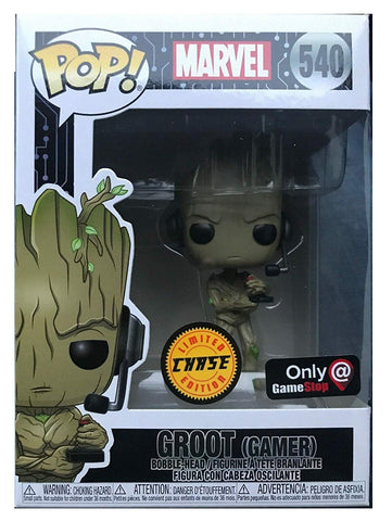 Funko Pop! Marvel: Gamer Groot Standing with Headset (GameStop) Chase Plus Deadpool (Gamer) (White) PEZ (Buy. Sell. Trade.) (Buy. Sell. Trade.)