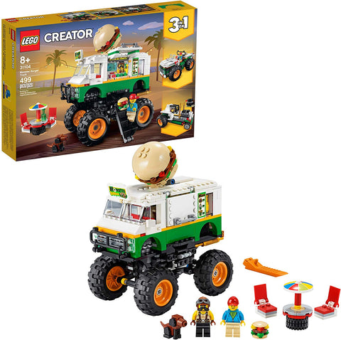 LEGO Creator 3in1 Monster Burger Truck Toy Building Kit