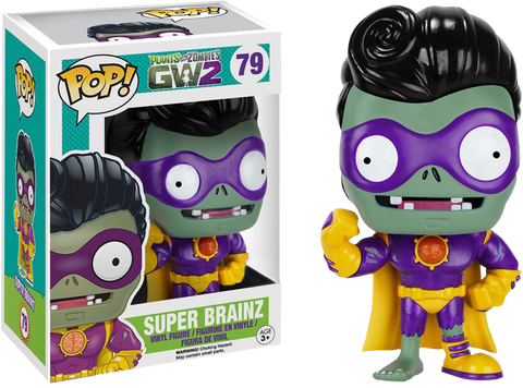 Funko POP! Games Plants Vs. Zombies Super Brainz Exclusive