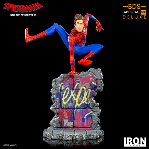 Iron Studios Spider-Man Into The Spider Verse Peter B. Parker BDS Art Scale 1/10