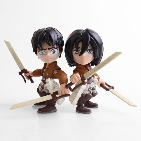 The Loyal Subjects SDCC 2017 Exclusive Attack on Titan Eren & Mikasa Crying 2 pk