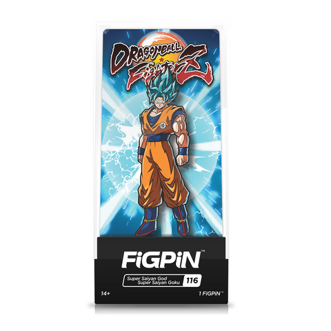 FiGPiN Dragon Ball Fighter Z Super Saiyan God Goku