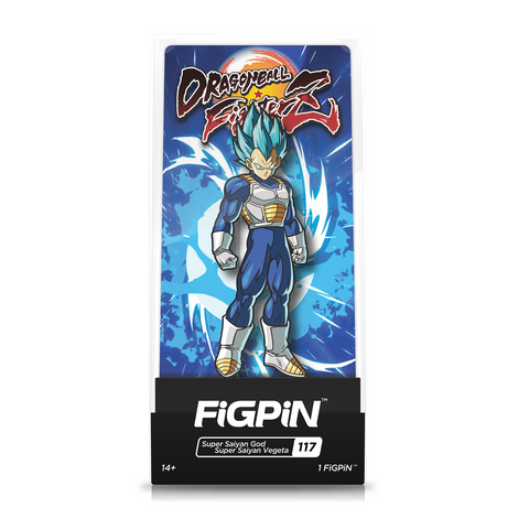 FiGPiN Dragon Ball Fighter Z Super Saiyan God Vegeta