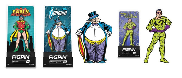 Figpin DC Heroes Robin 85 The Penguin 88 The Riddler 89 Set of 3 (Buy. Sell. Trade.)
