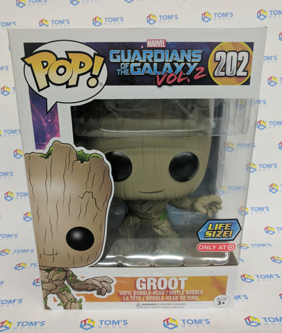 Pop! Heroes Vinyl Guardians of the Galaxy Vol. 2 Groot 10 inches Target Exclusive (Buy. Sell. Trade.)