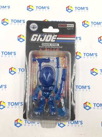 The Loyal Subjects Super Double Diamond Club GI Joe Snake Eyes Clear Blue