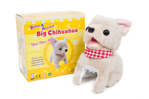 Somersaulting Big Chi Battery Operated Toy Dog