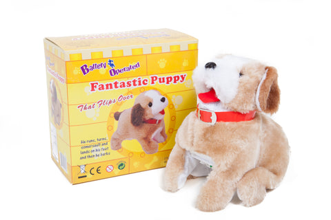 Somersaulting Fantastic Puppy Battery Operated Toy Dog