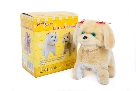 Little Charmy Battery Operated Toy Dog Brown