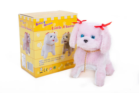 Little Charmy Battery Operated Toy Dog Pink