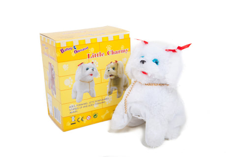Little Charmy Battery Operated Toy Dog White