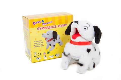 Somersaulting Gymnastic Puppy Battery Operated Toy Dog