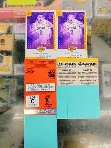 Los Angeles Lakers VS Golden State Warriors 2 Tickets Raffle (Buy. Sell. Trade.)
