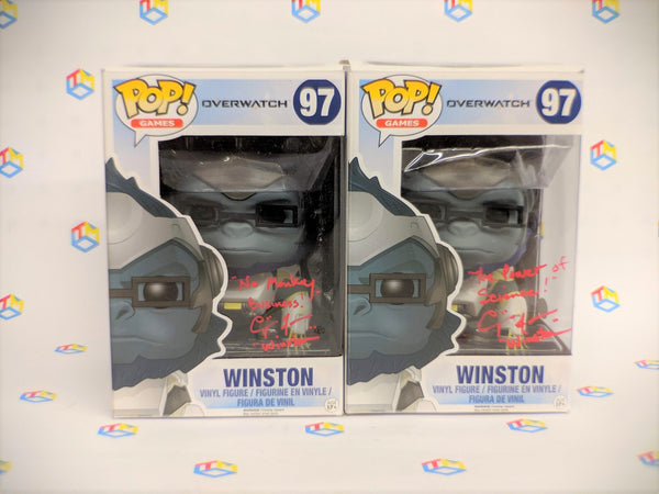 Funko Pop! Overwatch Winston 97 Signed By Crispin Freeman W. COA  (Buy. Sell. Trade.)