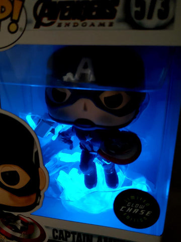 Funko Pop! Marvel Avengers Endgame Captain America Broken Shield Mjolnir 573 Glow Chase Custom (Buy. Sell. Trade.)