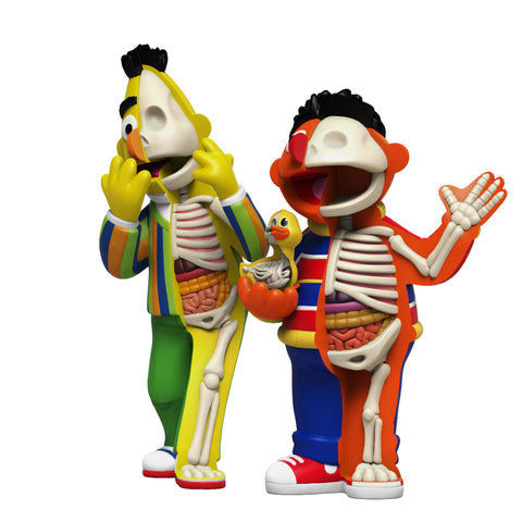 Mighty Jaxx XXRAY PLUS: 9 Inch Bert and 8.5 Inch Ernie Set (Coming Soon)