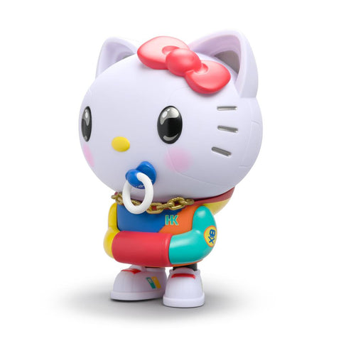 "KIDROBOT SANRIO HELLO KITTY 8"" ART FIGURE BY QUICCS – 80'S RETRO"
