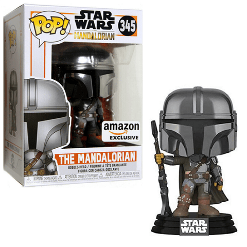 Funko Pop! Star Wars The Mandalorian 345 (Chrome) Amazon Exclusive (Buy. Sell. Trade.)