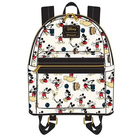 Loungefly Mickey Mouse Poses All Over Print Mini Backpack