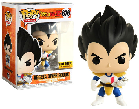Funko POP! Animation Dragon ball Z Vegeta (Over 9000!) 676 Hot Topic Exclusive (Buy. Sell. Trade.)