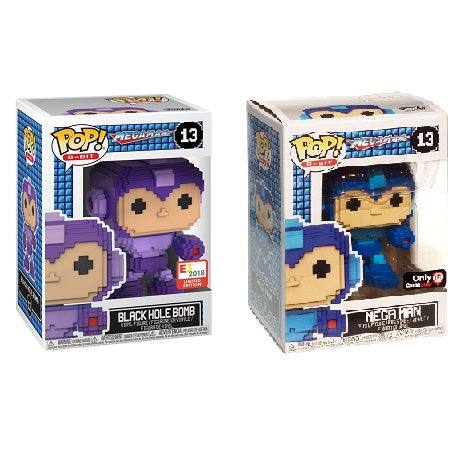 Funko Pop! 8-Bit: Megaman GameStop and Black Hole Bomb E3 2018 Exclusive (Buy. Sell. Trade.)