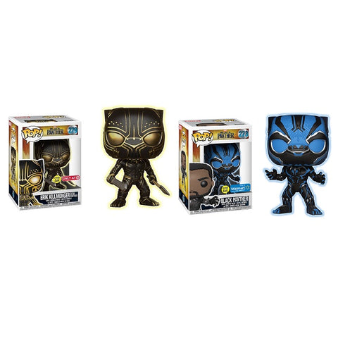 Funko Pop! Marvel: Black Panther Target and Walmart GITD Exclusive's Set (Buy. Sell. Trade.)